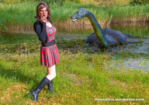 Nessie tells me her flat Earth theory; I am sceptical...